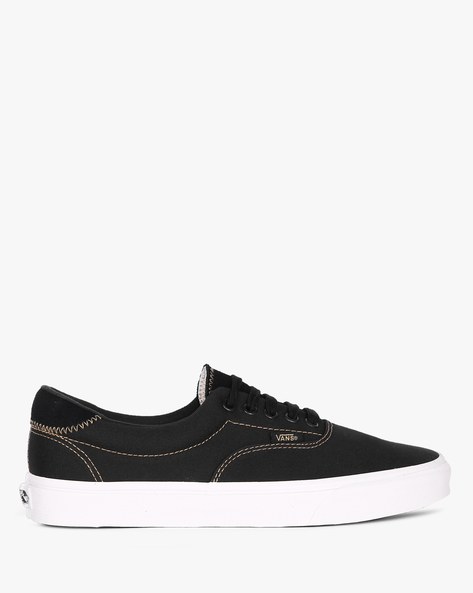 Canvas Shoes With Lace-Ups By Vans ( Black )