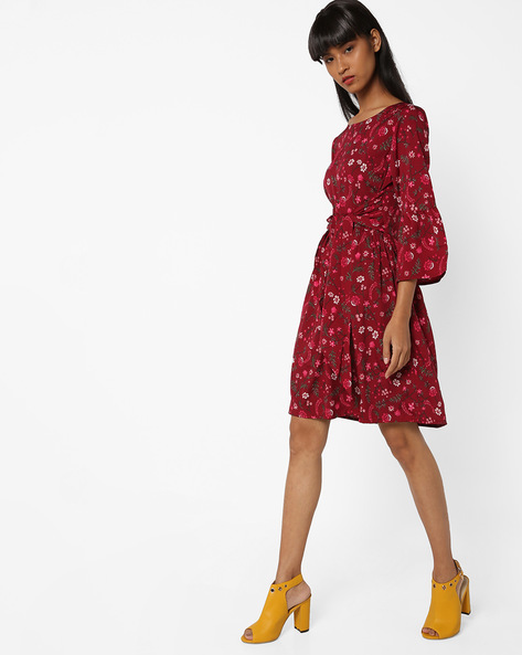 Floral Print Dress By Oxolloxo ( Multi )
