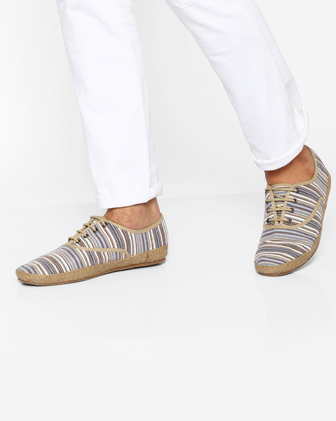 Canvas Casual Shoes By Carlton London ( Beige )