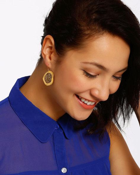 Gold-Plated Drop-Earrings By Shabnam Gitanjali ( Gold ) - 460012341001