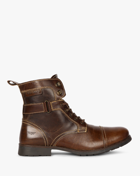 Toe-Cap Casual Boots By RED TAPE ( Brown )