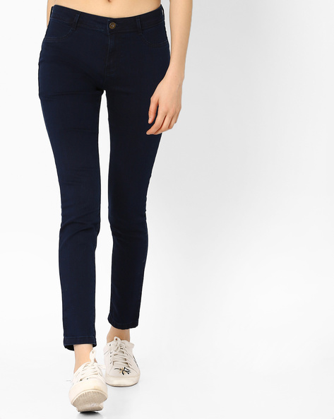 Slim Fit Mid-Rise Jeans By Vero Moda ( Navy )
