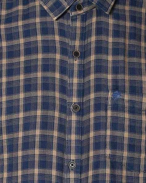 Slim Fit Checked Shirt By NETPLAY ( Khaki )