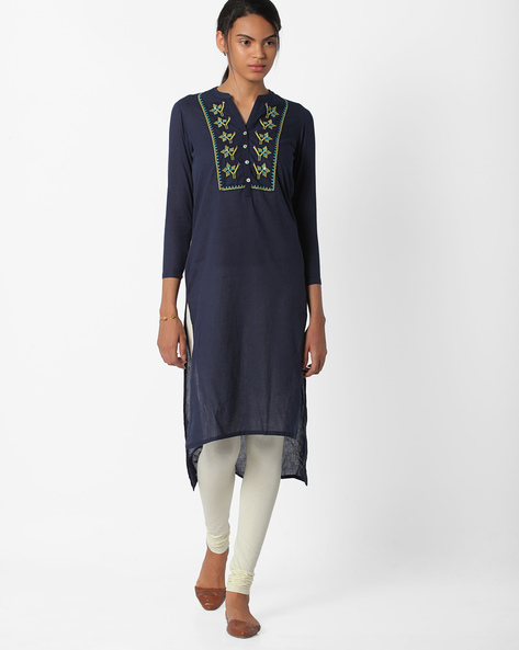 High-Low Hem Kurta With Embroidery By BE INDI ( Assorted )
