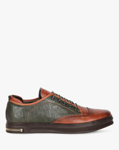 Colourblock Lace-Up Shoes By DUKE ( Green )