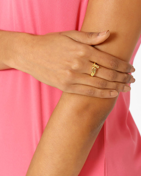Matte Gold-Plated Ring By AJIO ( Gold ) - 460018341001
