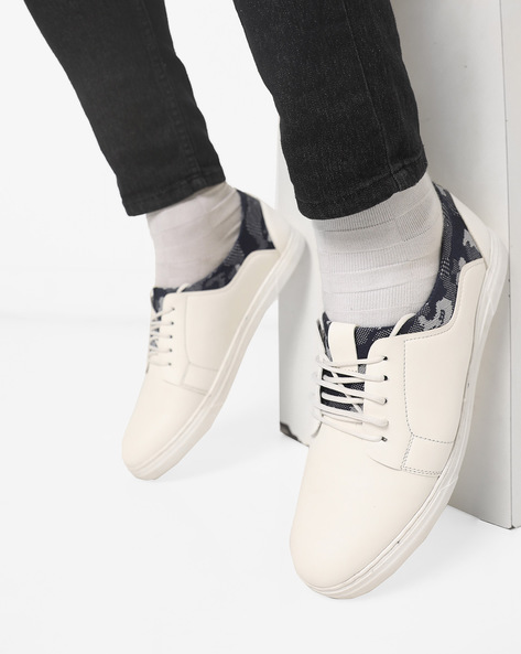 N9-Treated Panelled Sneakers By AJIO ( White )