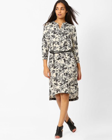 Printed Dress With High-Low Hem By CHEMISTRY ( Multi )