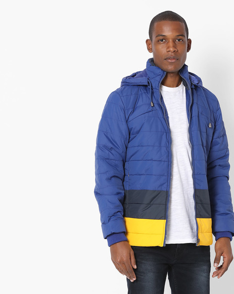 Quilted Jacket With Hood By Fort Collins ( Royalblue )