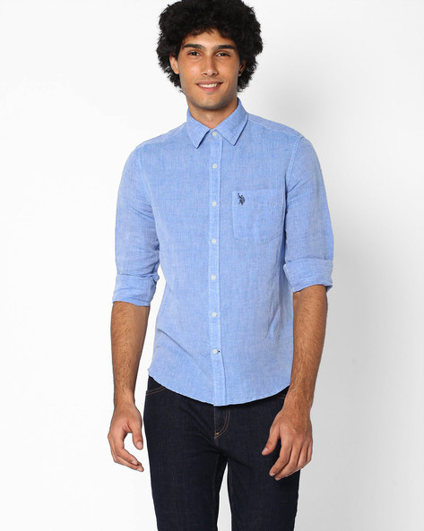 Classic Shirt With Patch Pocket By US POLO ( Assorted )