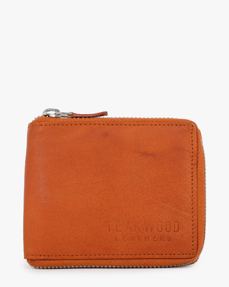 Leather Bi-Fold Wallet By TEAKWOOD LEATHERS ( Tan ) - 460070942001