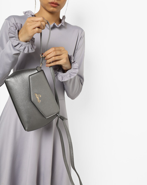 Flap-Front Sling Bag By Lavie ( Pewter )