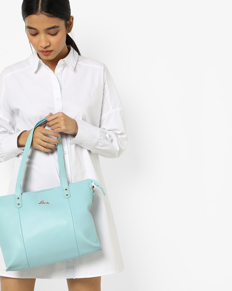 Altair Panelled Tote Bag By Lavie ( Blue )