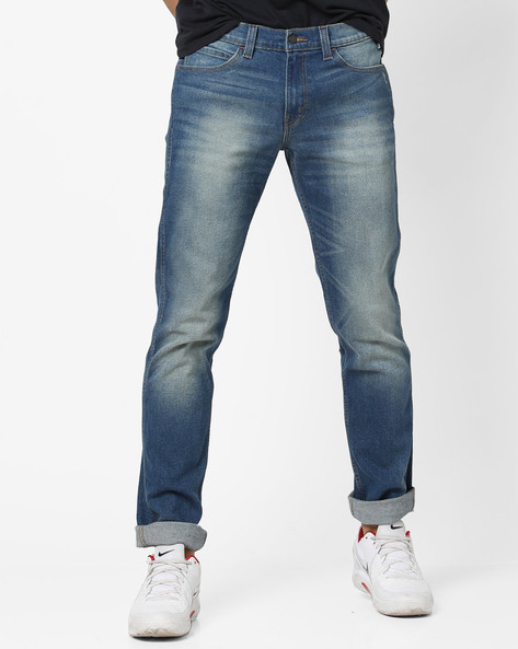 511 Mid-Washed Slim Fit Jeans By LEVIS ( Blue ) - 460098413008