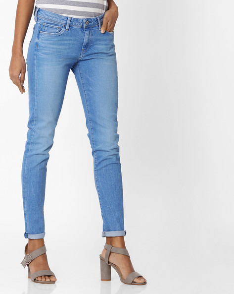 Light-Wash Skinny Fit Jeans By Pepe Jeans ( Blue )