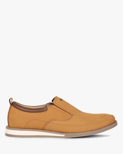 Leather Slip-On Casual Shoes By RED CHIEF ( Brown )