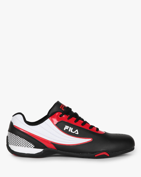 Colourblock Low-Top Lace-Up Shoes By FILA ( White )