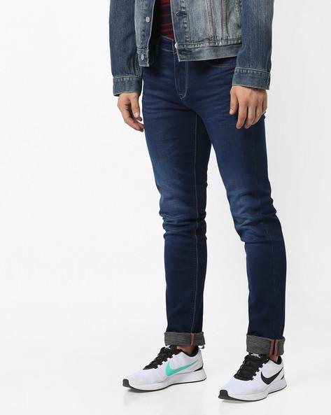 Brad Lightly Washed Slim Fit Jeans By Killer ( Blue )