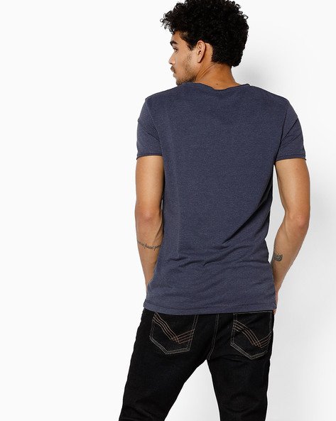 T-shirt With Contrast Patch Pocket By Tom Tailor ( Blue )