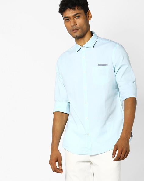 Slim Fit Shirt With Elbow Patches By GAS ( 3615 )