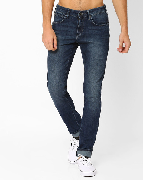 Hector Low-Rise Skinny Jeans By WRANGLER ( Blue )
