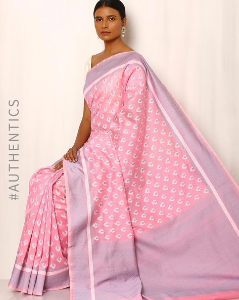 Banarasi Pure Silk Katan Cotton Cutwork Saree By Indie Picks ( Pink )