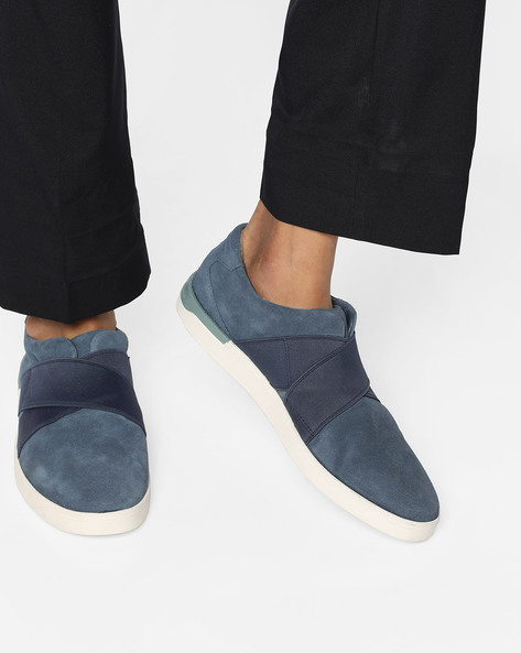 Stanway Easy Suede Slip-Ons By CLARKS ( Tan )