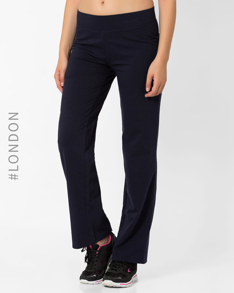 Straight-Leg Cotton Rich Jogger Pants By Marks & Spencer ( Navyblue )