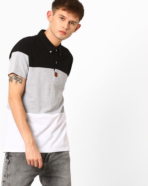 Cut & Sew Polo T-shirt By Garcon ( Multi )
