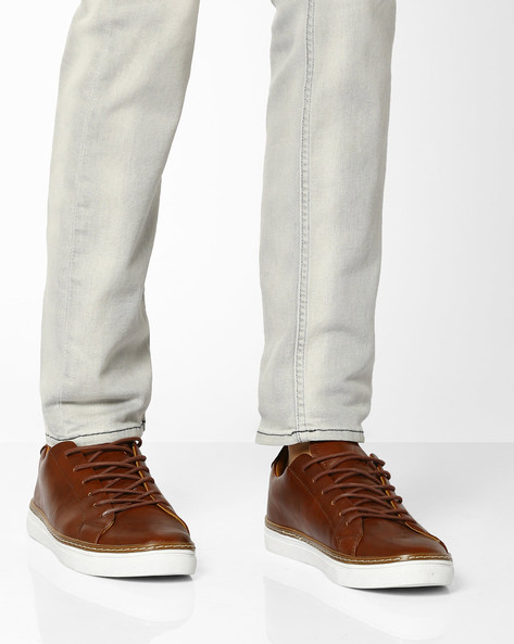 Low-Top Sneakers With Welt By UNITED COLORS OF BENETTON ( Brown )