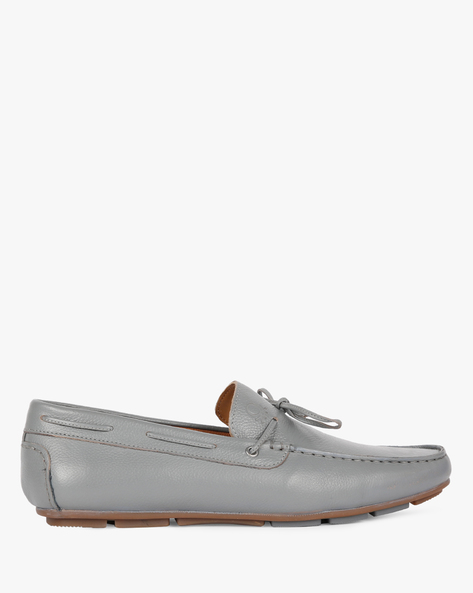 Leather Loafer Casual Shoes By UNITED COLORS OF BENETTON ( Darkgrey )