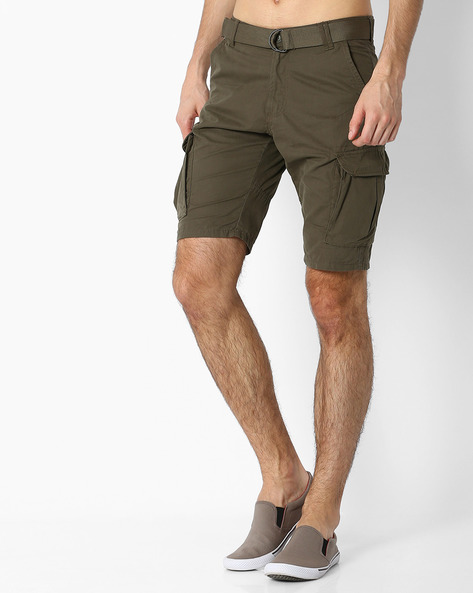 Cargo Shorts With Belt By DNM X ( Olive )