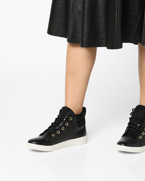 High-Top Lace-Up Shoes By Carlton London ( Black )