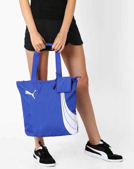 Fundamentals Shopper Tote Bag By Puma ( Blue )