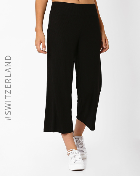 Mid-Waist Knitted Culottes By TALLY WEiJL ( Black )