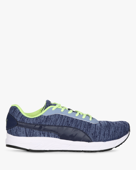 Valor Knit IDP Lace-Up Sports Shoes By Puma ( Blue )