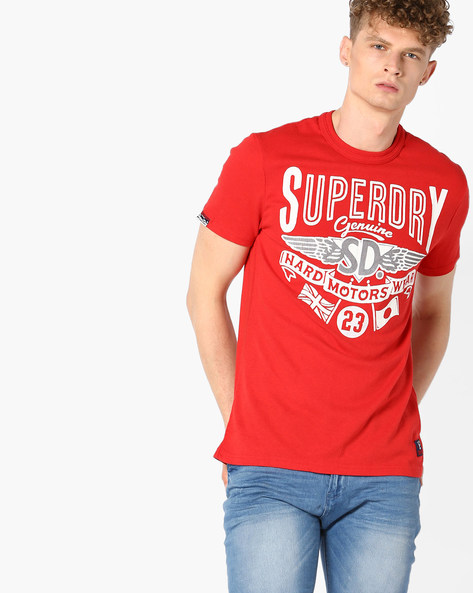 Hard Wear Crew-Neck T-shirt By SUPERDRY ( 93j )