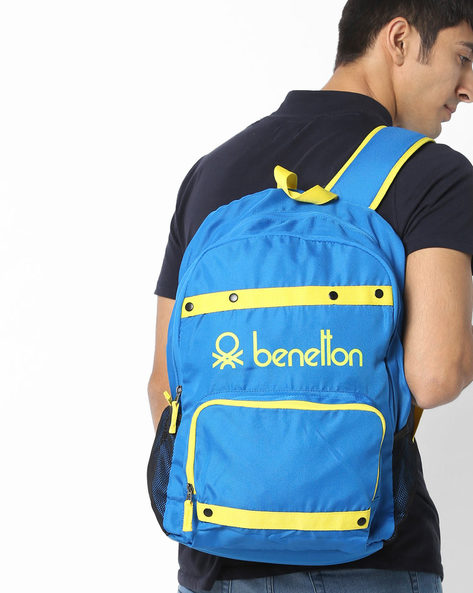 Laptop Backpack With Contrast Taping By UNITED COLORS OF BENETTON ( Blue )