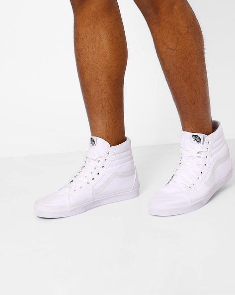 High-Top Lace-Up Shoes By Vans ( White )