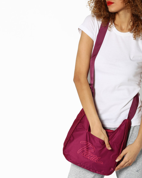 Core Shoulder Bag By Puma ( Fuchsia )