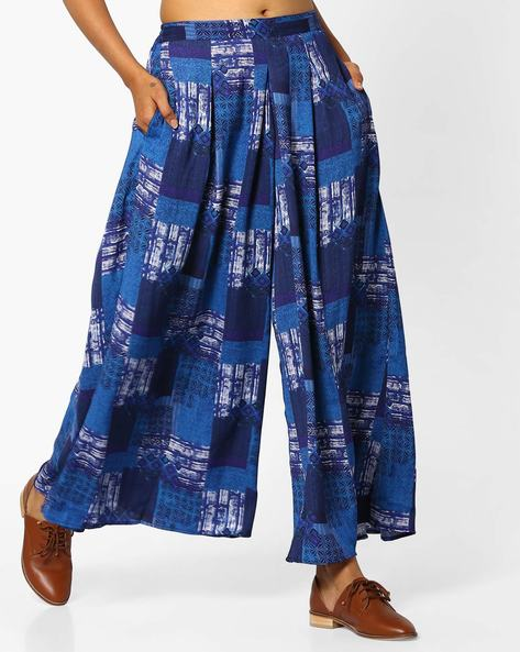 Printed Palazzo Pants By PE IW Fusion ( Blue )