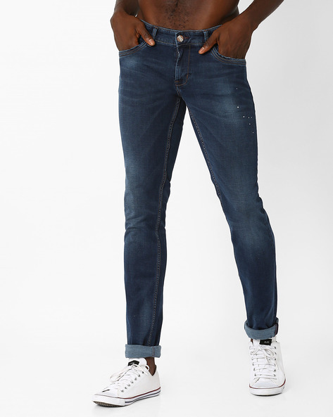 Low-Rise Skinny Jeans By BASICS ( Navy )