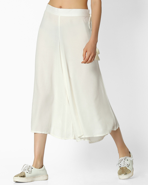 Culottes With Tie-Up By COLOUR ME ( White )