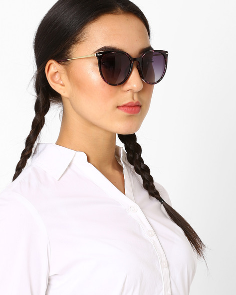 Polarised Cat-Eye Sunglasses By Macv ( Purple )