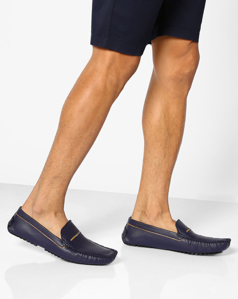 Driver Shoes With Metal Accents By DUKE ( Blue )