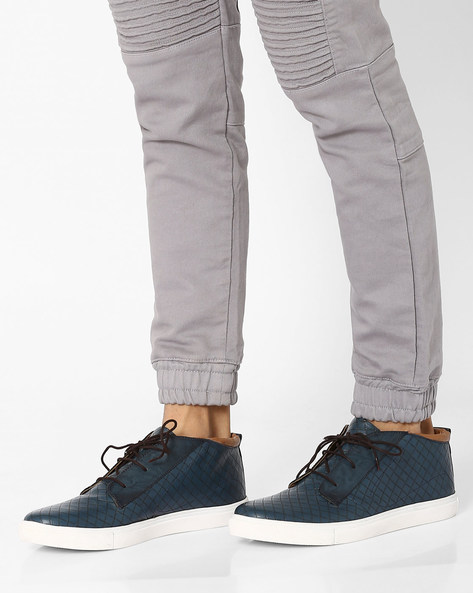 Chukka Boots With Lace-Ups By Knotty Derby ( Blueblack )
