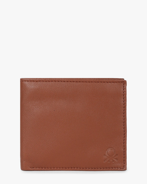 Genuine Leather Bi-Fold Wallet By UNITED COLORS OF BENETTON ( Tan )