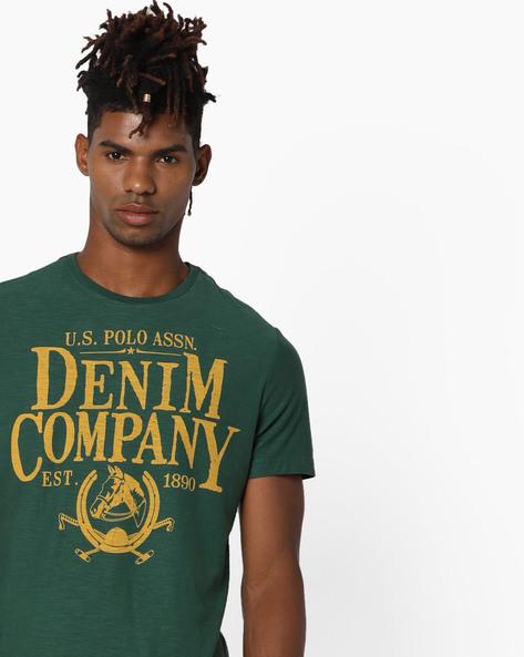 Cotton Slub Crew-Neck T-shirt By US POLO ( Multi )