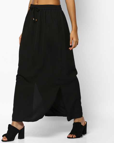 Maxi Skirt With Slits By PE WW Casual ( Black )