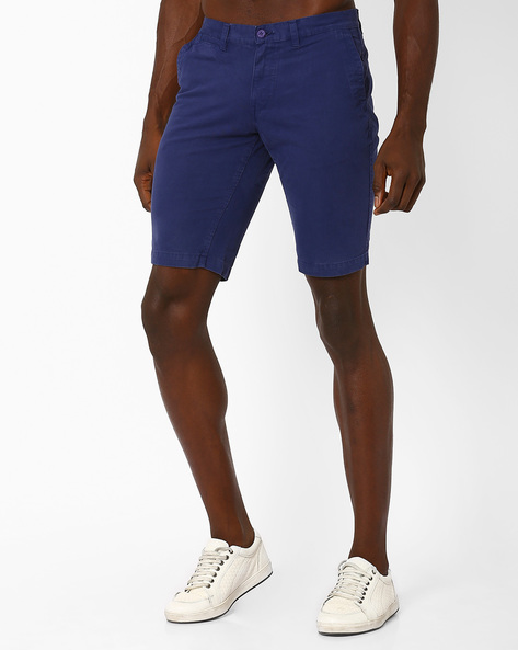 Slim Fit Cotton Shorts By The Indian Garage Co ( Lightblue )